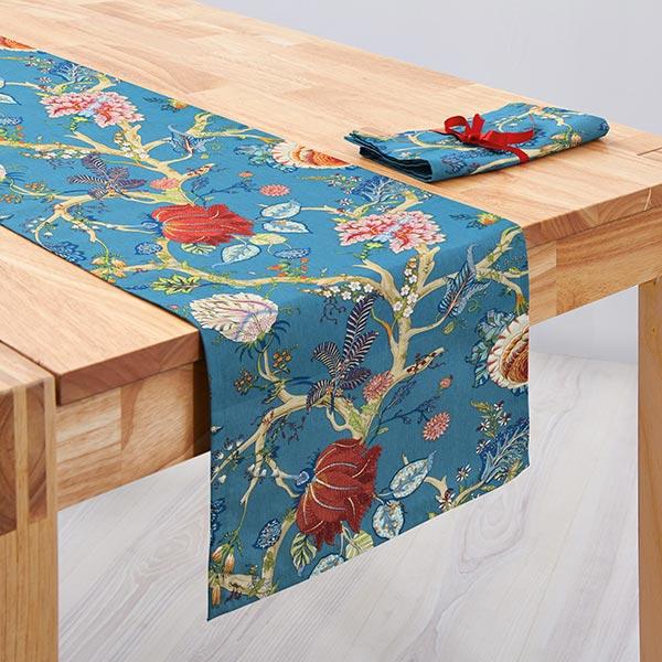 Tissu en coton Deco Ceylan 33 – bleu turquoise