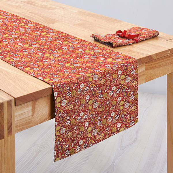 Tissu en coton Cretonne Petites fleurs – rouge