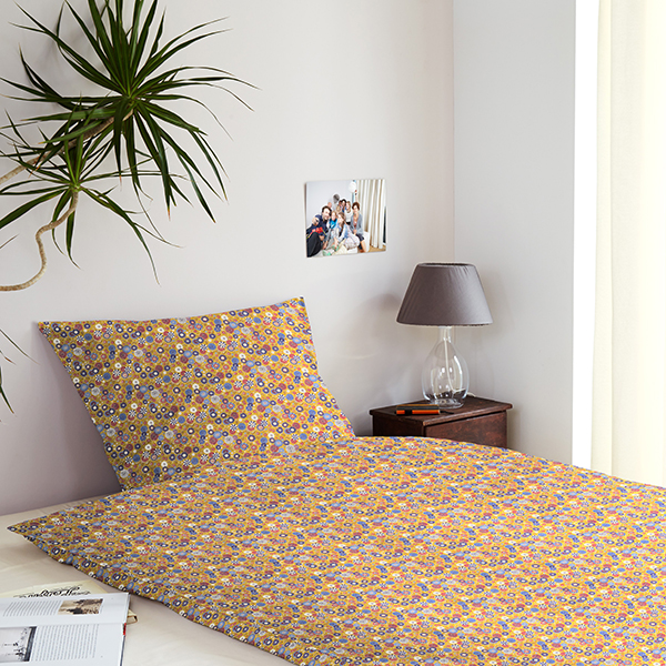 Tissu en coton Cretonne Petites fleurs – jaune
