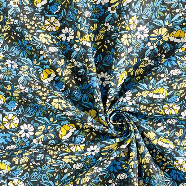 Tissu en coton Cretonne Fleurs – navy