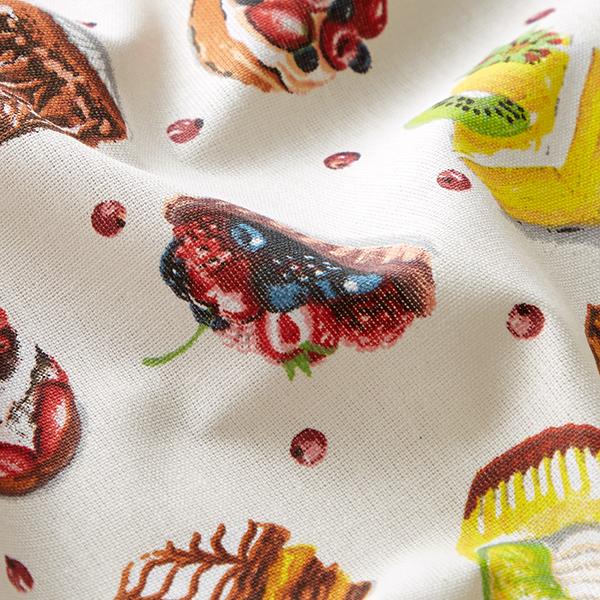 Tissu en coton Cretonne Soirée gâteau – blanc