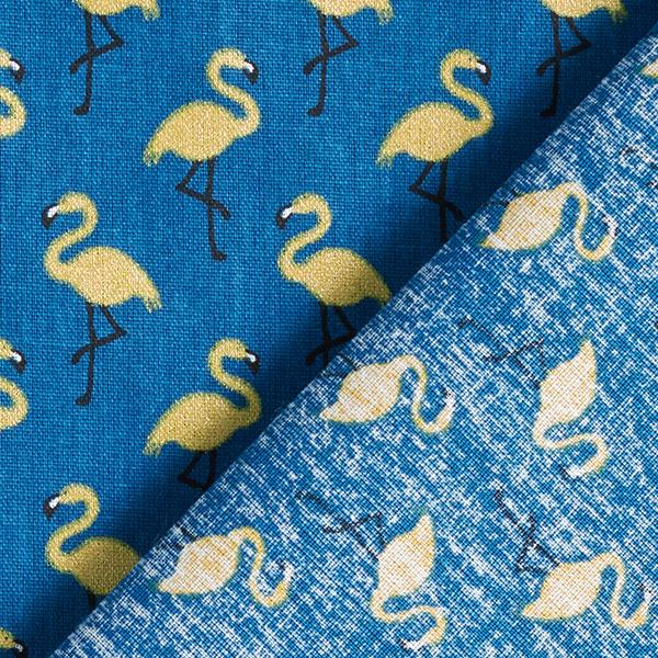 Tissu en coton Cretonne Flamant rose brillant – bleu