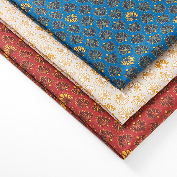 Tissu en coton Cretonne Éventail – bleu