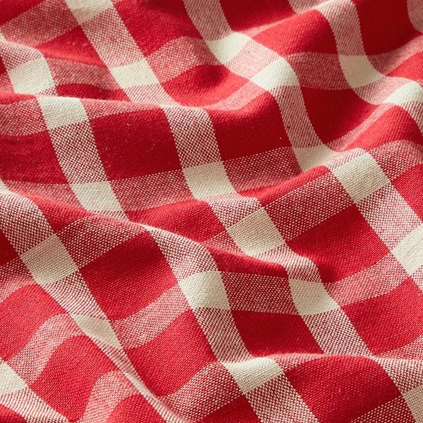 Tissu de décoration Tissu coton Carreaux – rouge