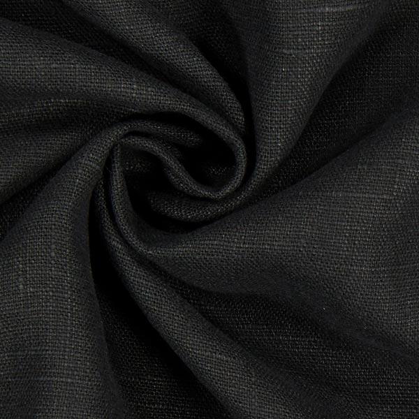 Lin lavé Verona – noir