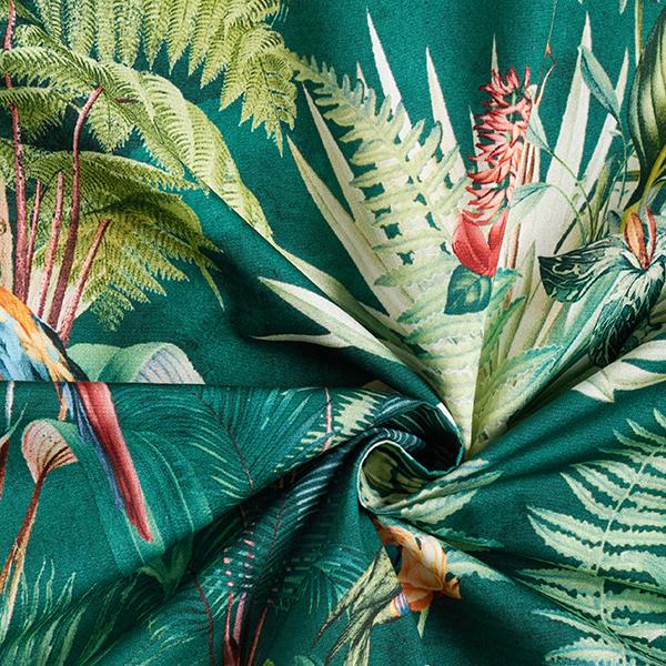 Tissu de décoration Percale Animaux de la jungle – vert foncé