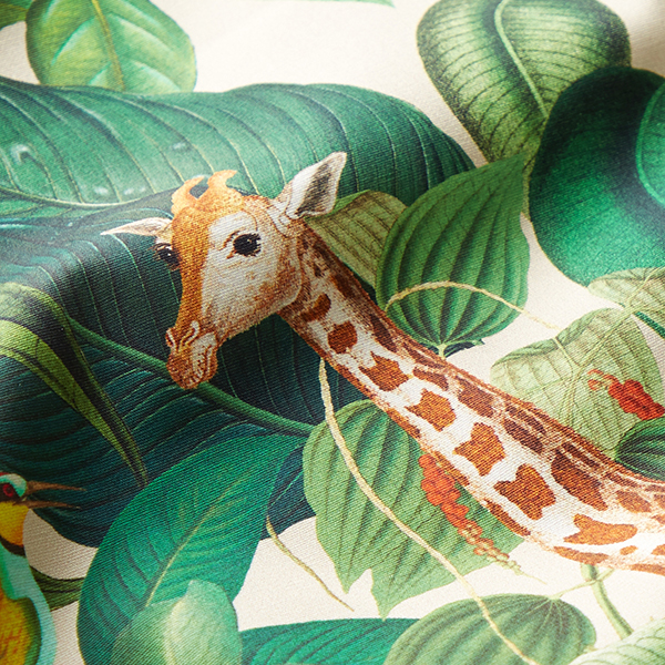 Tissu de décoration Percale Girafe – nature
