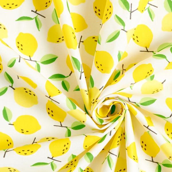 Beschichtete Baumwolle Zitronen – weiss