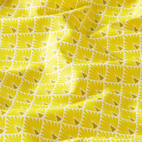 Coton enduit Éventail – jaune