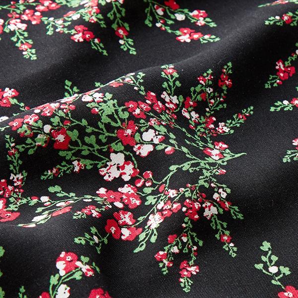 Tissu de chemisier Viscose Rosier buisson – noir