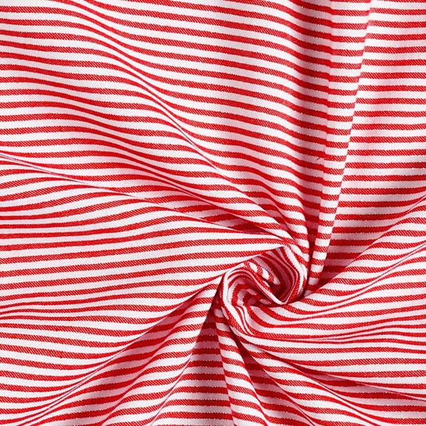 Tissu de chemisier Rayures Lurex – rouge/blanc