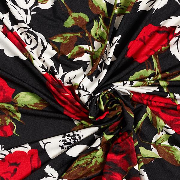 Jersey Sur un lit de roses – noir/rouge
