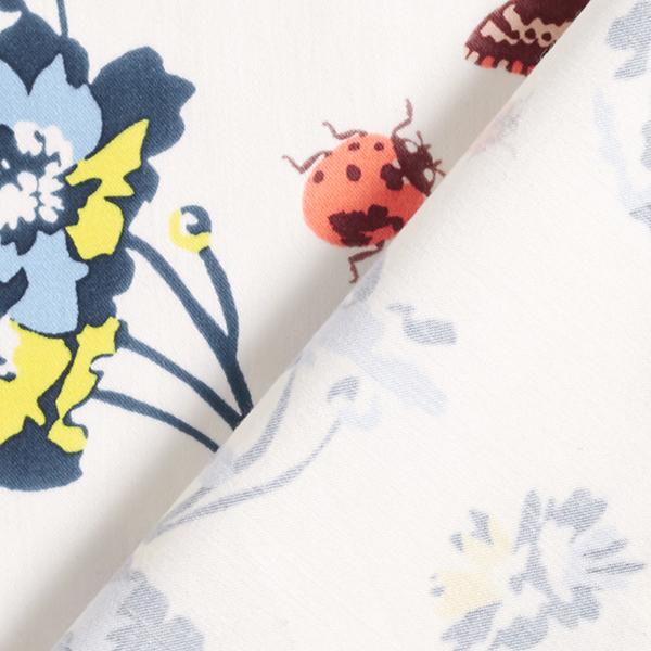 Satin de coton Stretch pour pantalon Coccinelle & Papillon – écru