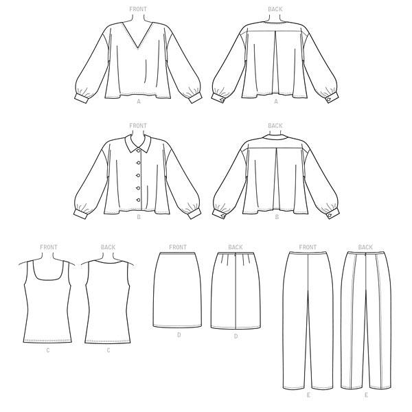 Top | Pantalon | Jupe, Vogue 9286 | 32 - 40