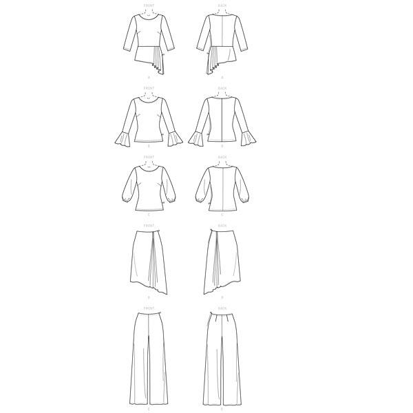 Top, Jupe, Pantalon, Butterick 6637 | 32-40