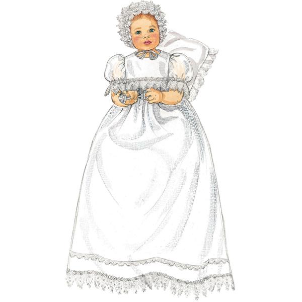 Robe de baptême bébé, McCalls 6221 | NB - L
