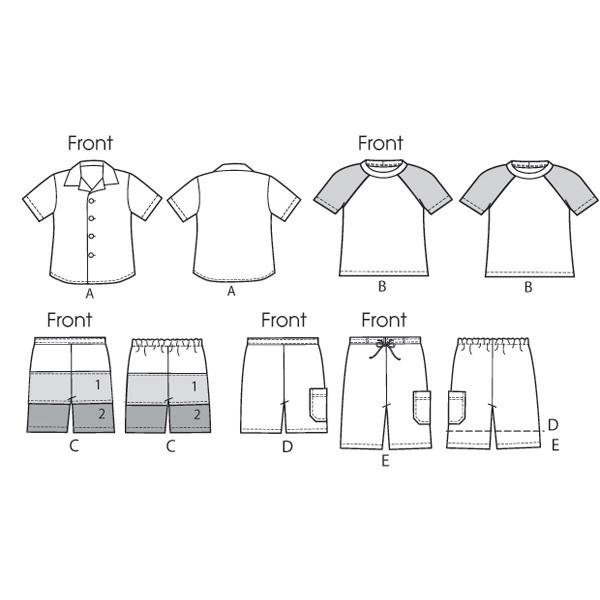 Pantalon|T-Shirt, McCalls 6548 | 94 - 122