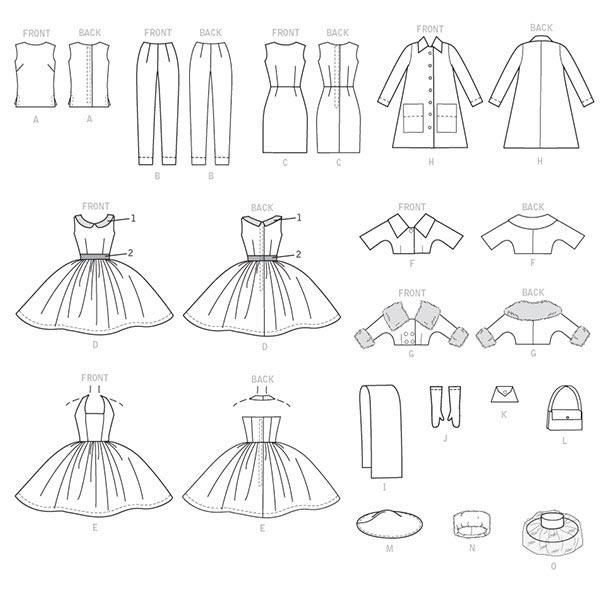 Vêtements poupée, McCalls 7550