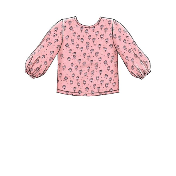 Haut | Robe Fille, McCalls 7829 | 92 - 116