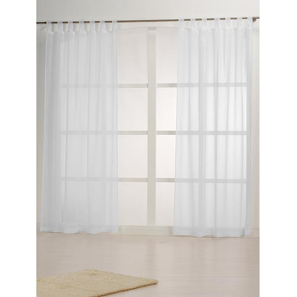 Tissu pour rideaux recyclé – blanc