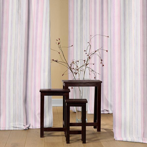Tissu de décoration Cretonne Rayaforest – rose