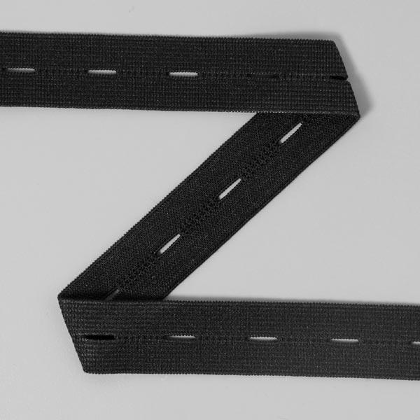 Élastique a boutonnières 580 – noir | YKK