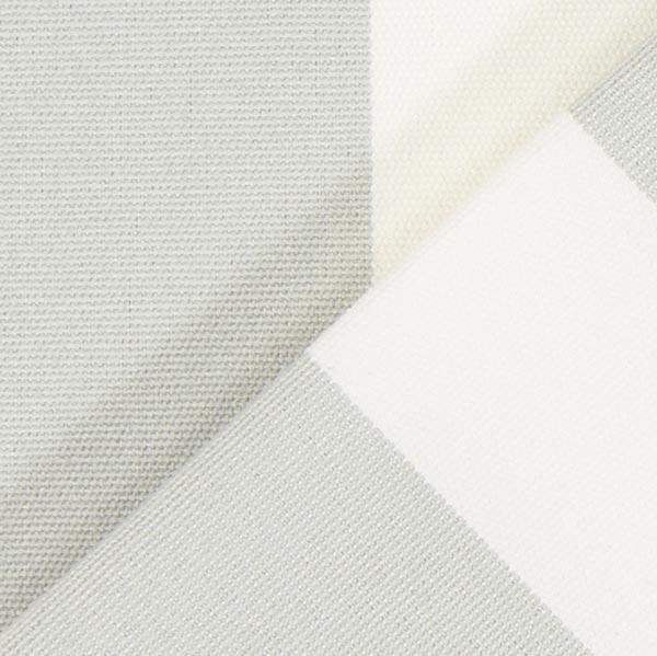 Tissu de décoration d'extérieur Acrisol Listado – écru/gris