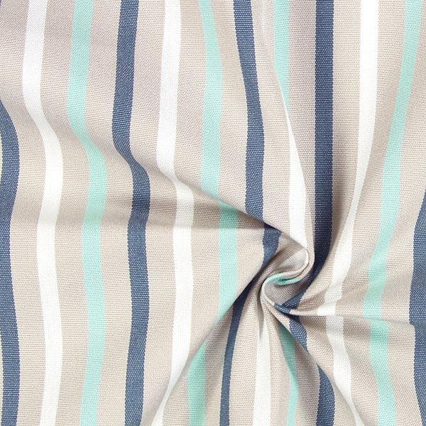 Tissu de décoration d'extérieur Acrisol Poetry – beige/turquoise
