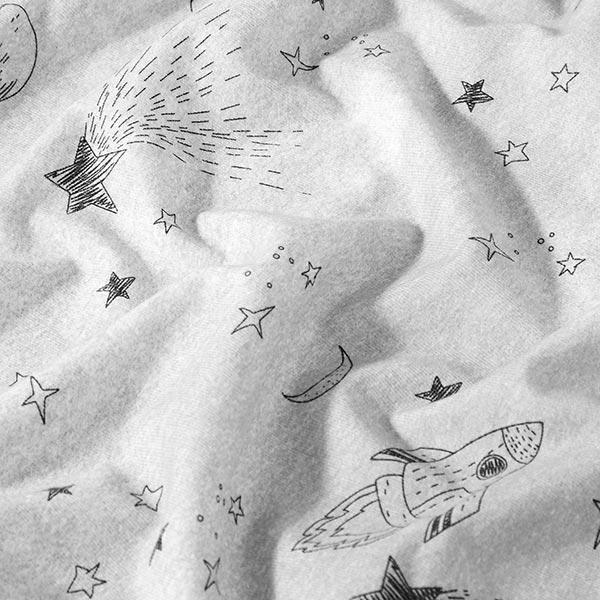 Jersey coton Fusée d'espace – gris