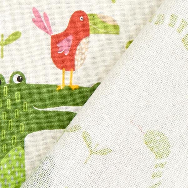 Tissu en coton Cretonne Jungle – crème