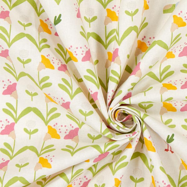Tissu en coton Cretonne Campanule – écru