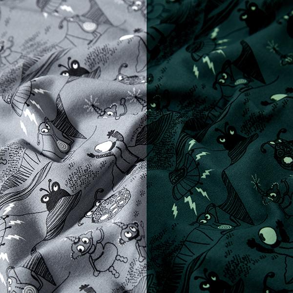 Jersey coton Glow-in-the-dark Aliens amusants – gris