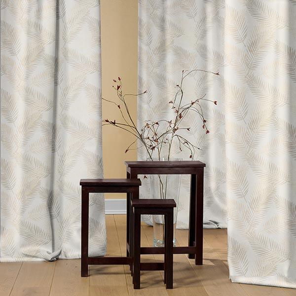 Tissu opaque palme metallic – beige/or