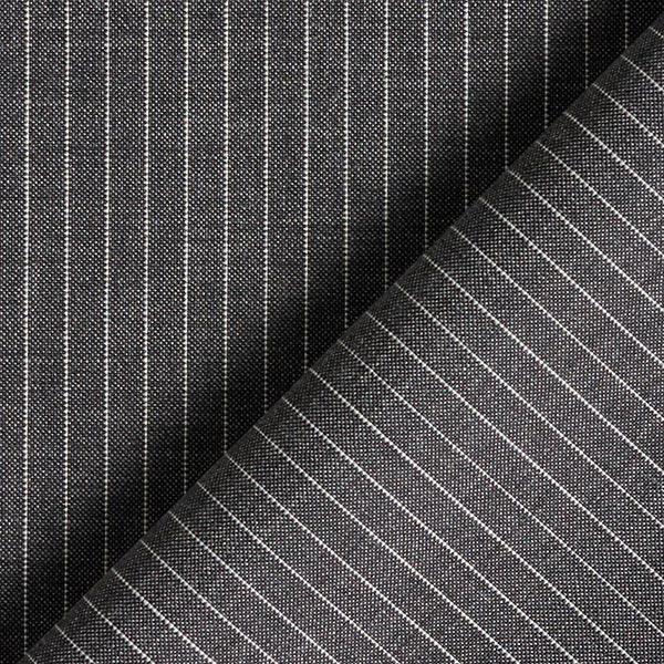 Tissu pour costume 100%laine mérinos S'110 Rayures fines – anthracite
