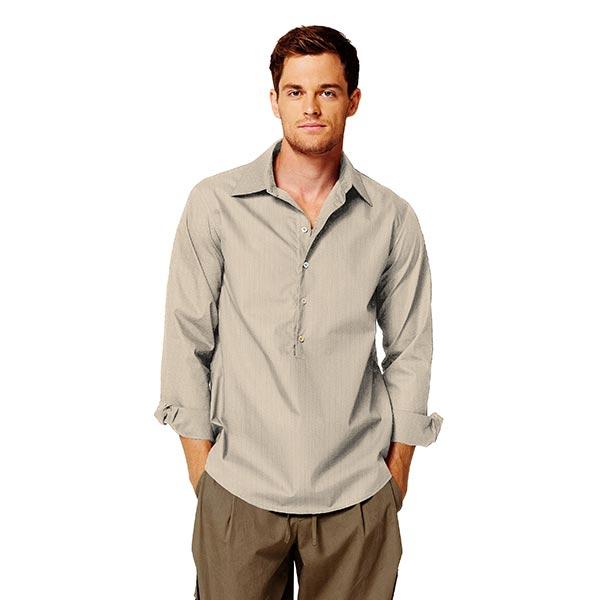 Tissu pour chemise Tissu de coton mélangé Henry – beige