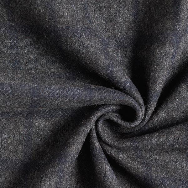 Tissu de manteau Mélange laine Carreaux – anthracite/lilas bleu