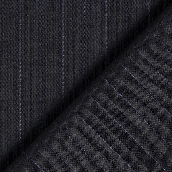 Tissu de costume et de chemisier100% laine vierge Rayures fines – navy