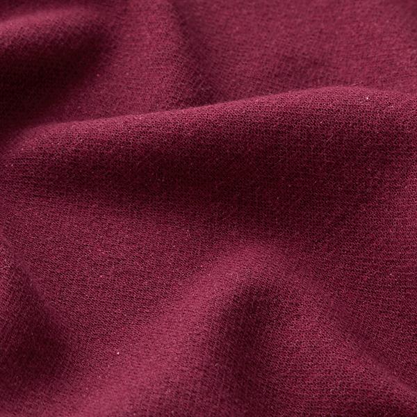 Tricot Jacquard recyclé uni – rouge bordeaux