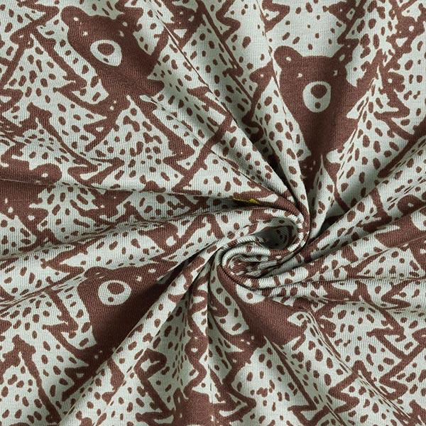 Jersey coton Ours dans la forêt de sapins – roseau/marron