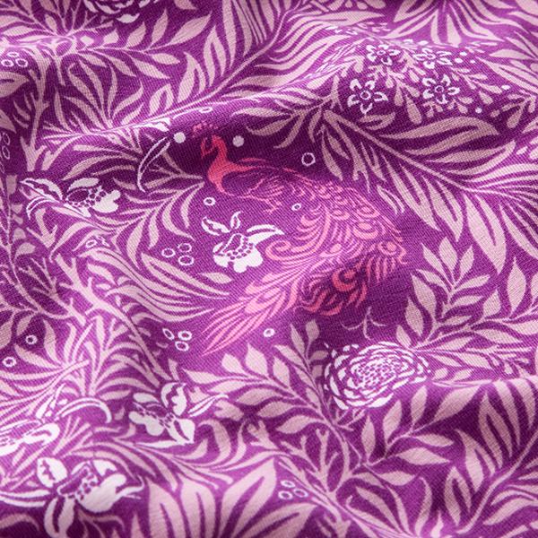 Jersey coton mer de feuilles – pourpre