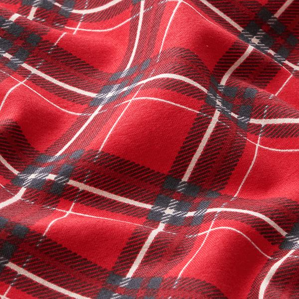 Soft sweater carreaux en biais – rouge