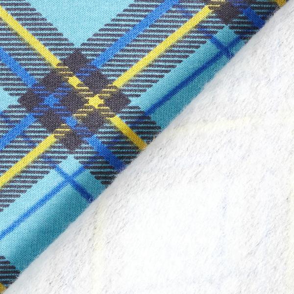 Soft sweater carreaux en biais – bleu aqua