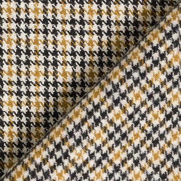 Tissu pour manteau mélange de laine carreaux – sable
