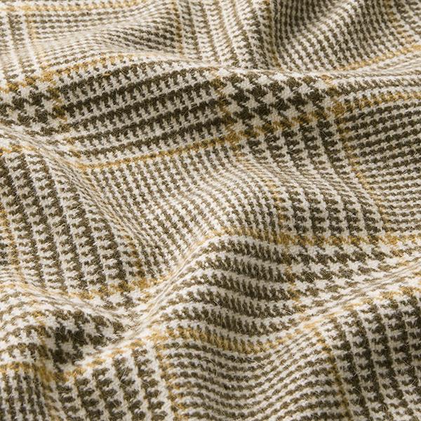 Tissu pour manteau mélange de laine Prince-de-Galles – sable