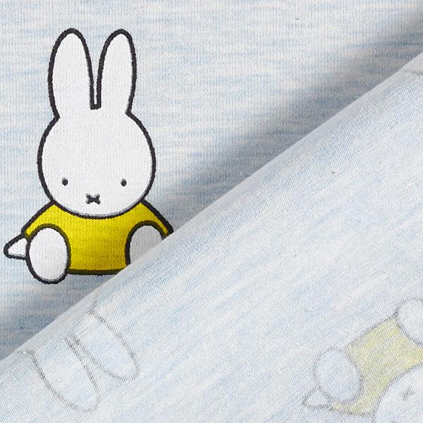 Jersey coton Lapin Miffy assis – bleu clair/jaune