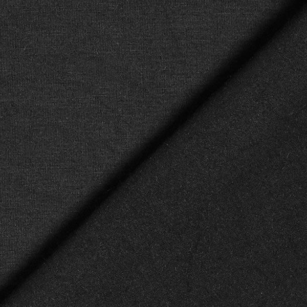 Jersey en viscose de bambou Uni – noir