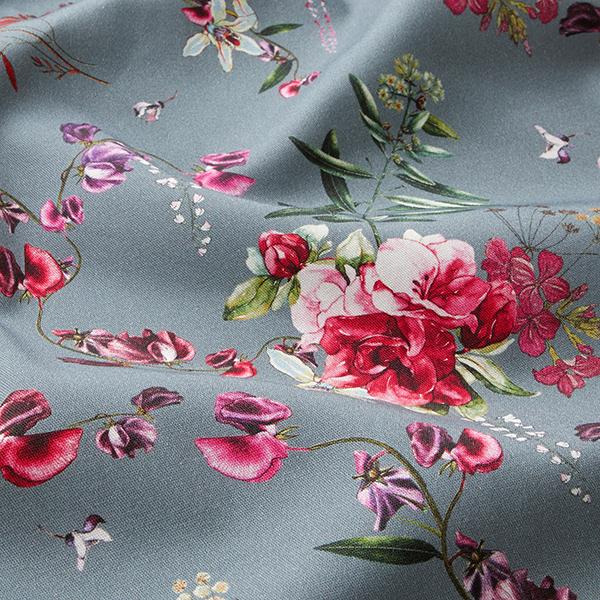 Stretch de pantalon fleurs sauvages – gris