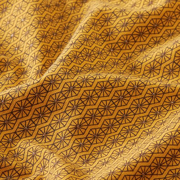 Jersey coton Losanges scintillants – moutarde
