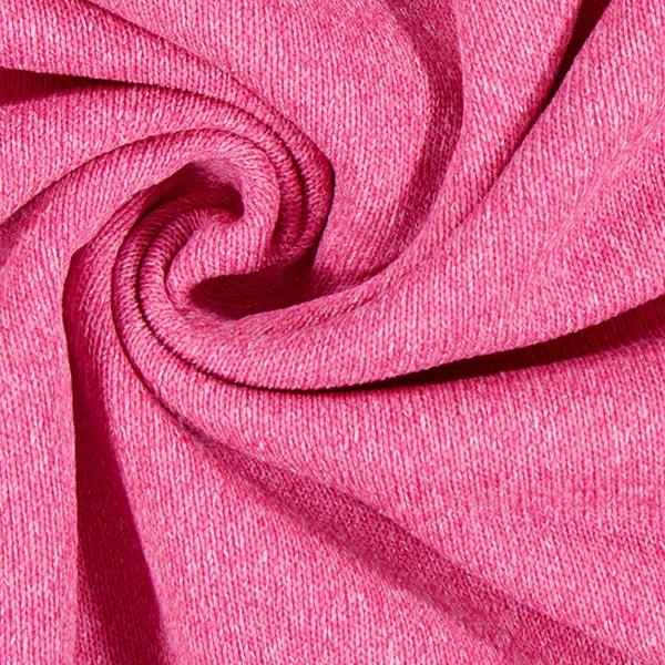 Tissu tricot avec polaire Coral – rose vif