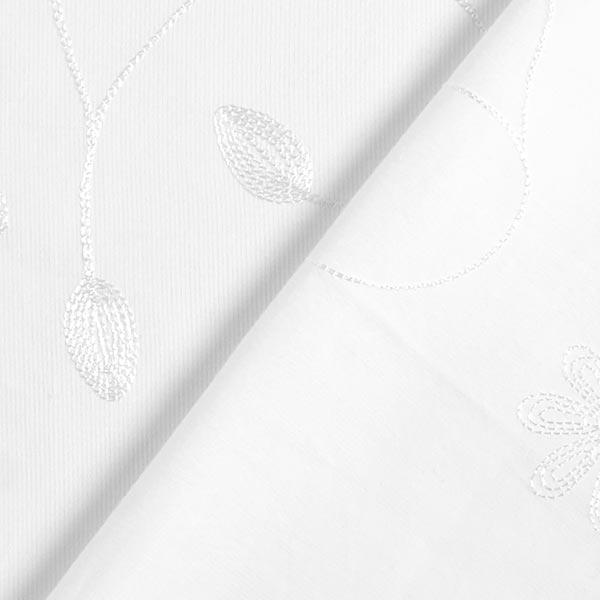 Velours milleraie Broderie florale – écru